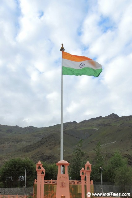 Indian Flag at Drass War Memorial
