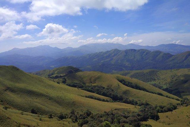 Landscape view of the Kyatanamakki hilltop