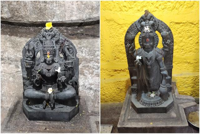 Mahalakshmi and Mahavishnu Murthis at the temple