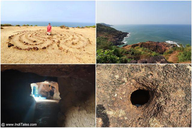 Go Garba, Labyrinth, Jatayu Tirtha cliff, and Kamandalu Tirtha at Gokarna
