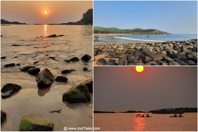 Sunset time at Om Beach - Popular places to visit in Gokarna