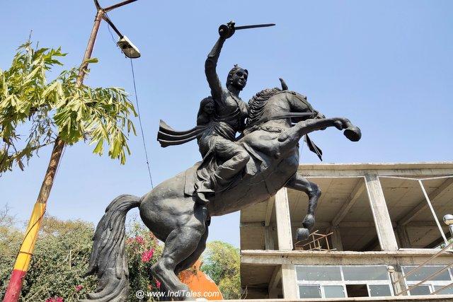 Rani Lakshmibai statue at Bithoor
