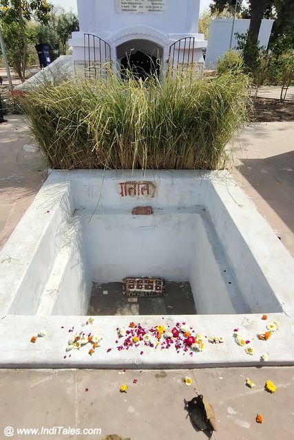 Sita Samadhi place in Valmiki Ashram