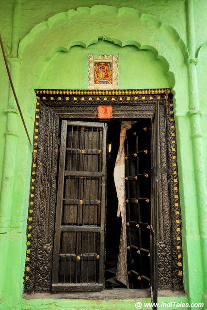 Beautiful wood carved doors of Bithoor