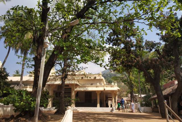 Landscape view of Ramana Maharshi Ashram