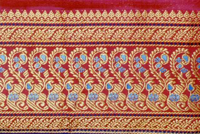Red and Gold Silk Sari