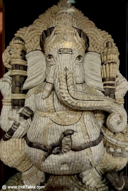 Ganesha created with Silk Cocoons
