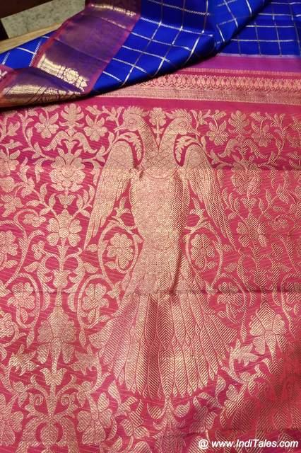 Gandbherunda Motif on Silk