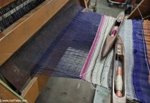 Handloom Silk Weaving