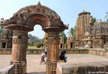 Toran and landscape view of the Muktesvara temple