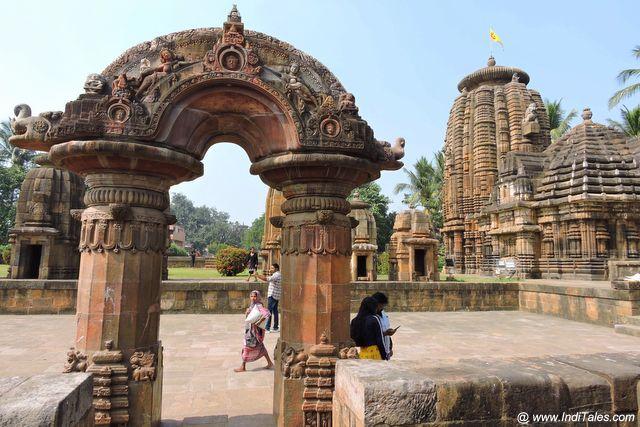 Toran and landscape view of the Mukteshvara temple
