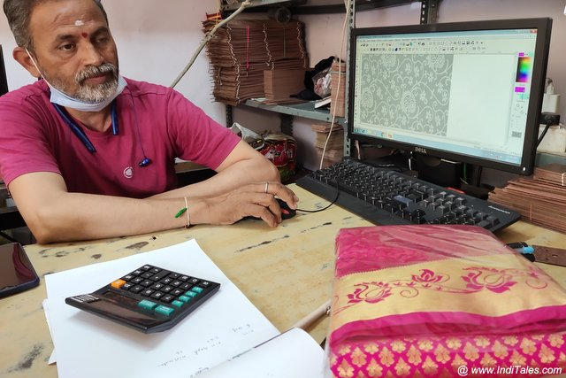 Designing of Punchcard for silk weaving