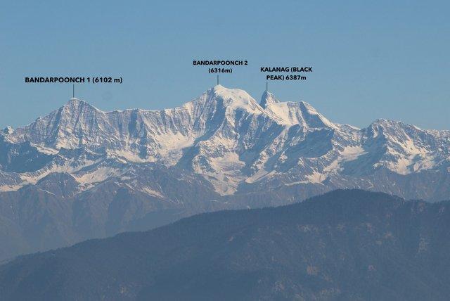 Banderpoonch Range of Garhwal Himalayas near Kanatal