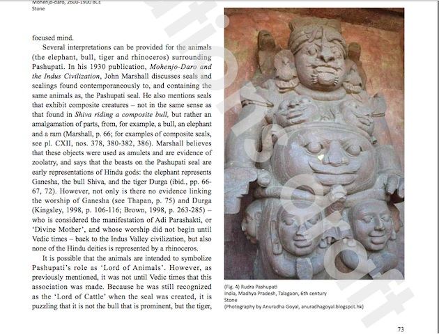 Rudra Shiva Picture in Orientations Magazine