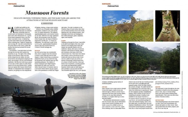 National Geographic Traveller India Story